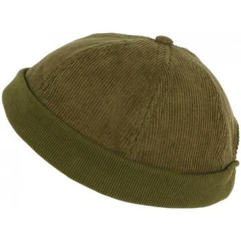 Accessoires textile Homme Bonnets Léon Montane Bonnet Docker Velours Vert Kaki en Coton Chapelier Hodack Vert