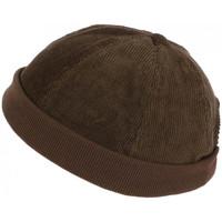 Accessoires textile Homme Bonnets Léon Montane Bonnet Docker Velours Marron en Coton Chapelier Hodack Marron