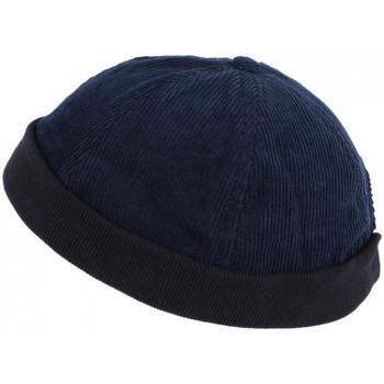 Accessoires textile Homme Bonnets Léon Montane Bonnet Docker Velours Bleu Marine en Coton Chapelier Hodack Bleu