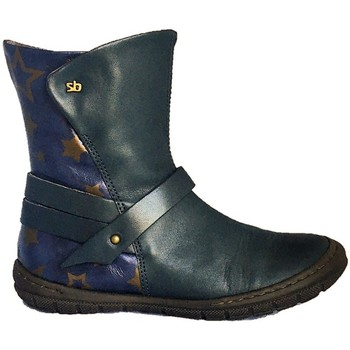Chaussures Fille Boots Stones and Bones Milla Bleu