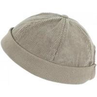 Accessoires textile Homme Bonnets Léon Montane Bonnet Docker Velours Gris Clair en Coton Chapelier Hodack Gris