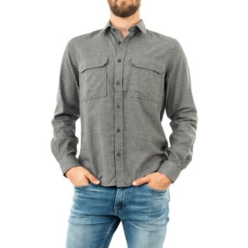 Vêtements Homme Chemises manches longues Aigle cabadi dark heather grey gris