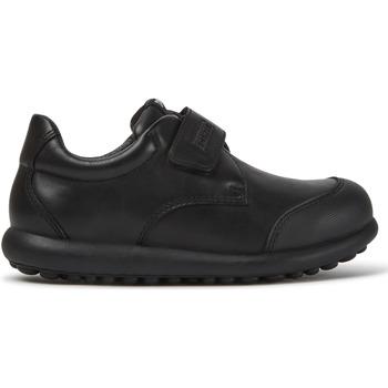 Chaussures Garçon Derbies Camper Baskets velcro cuir PELOTAS ARIEL noir
