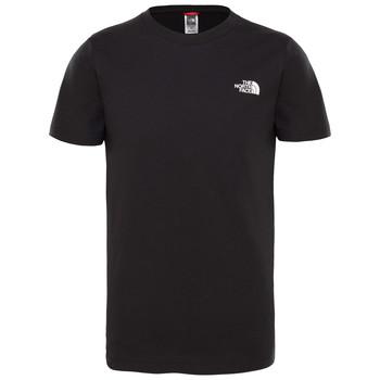 Vêtements Garçon T-shirts manches courtes The North Face SIMPLE DOME TEE Noir
