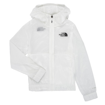 Vêtements Fille Coupes vent The North Face REACTOR WIND JACKET Blanc