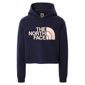 Vêtements Fille Sweats The North Face DREW PEAK CROPPED HOODIE Marine