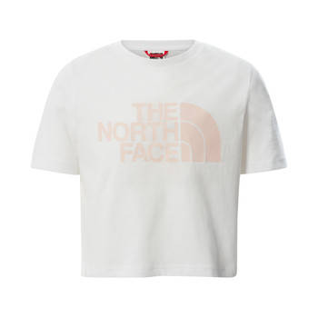 Vêtements Fille T-shirts manches courtes The North Face EASY CROPPED TEE Blanc