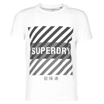 Vêtements Homme T-shirts manches courtes Superdry TRAINING CORESPORT GRAPHIC TEE Blanc