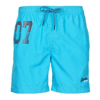 Vêtements Homme Maillots / Shorts de bain Superdry WATERPOLO SWIM SHORT Bleu