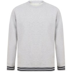 Vêtements Sweats Front Row FR840 Gris chiné / bleu marine