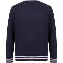 Vêtements Sweats Front Row FR840 Bleu marine / gris chiné