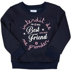 Vêtements Fille Sweats Interdit De Me Gronder ROLLER Bleu marine