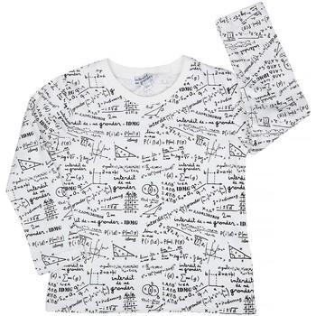 Vêtements Garçon T-shirts manches longues Interdit De Me Gronder MATHEMATIQUE Blanc