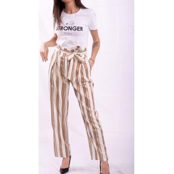 Vêtements Femme Pantalons fluides / Sarouels Fracomina FR20SP665 Incolore