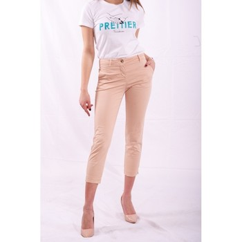 Vêtements Femme Chinos / Carrots Fracomina FR20SPCTINA14 Beige