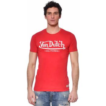Vêtements Homme T-shirts manches courtes Von Dutch TSHIRT LIFE RW Rouge