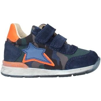 Chaussures Garçon Baskets montantes Falcotto NEW FERDI 1C69 BASKETS bébé ORANGE BLEU ORANGE BLEU