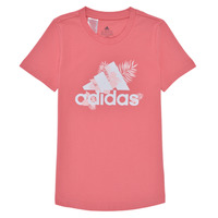 Vêtements Fille T-shirts manches courtes adidas Performance TROPICAL BOS G Rose
