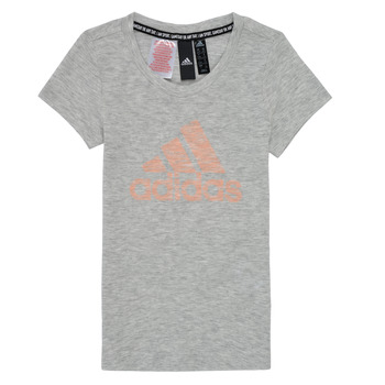 Vêtements Fille T-shirts manches courtes adidas Performance JAGAMEE Blanc