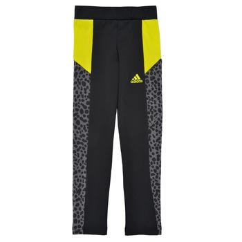 Vêtements Fille Leggings adidas Performance LEOTRI Noir