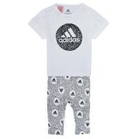 Vêtements Fille Ensembles enfant adidas Performance TIGHT SET Blanc