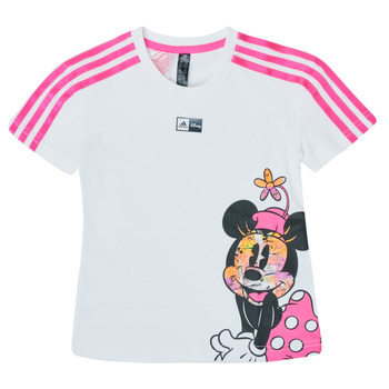 Vêtements Fille T-shirts manches courtes adidas Performance LG DY MM TEE Blanc