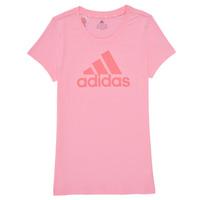 Vêtements Fille T-shirts manches courtes adidas Performance TREPIN Rose