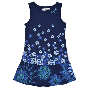 Vêtements Fille Robes courtes Desigual SORTIA Marine