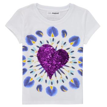 Vêtements Fille T-shirts manches courtes Desigual OLLIA Blanc
