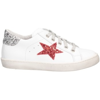 Chaussures Fille Baskets basses Dianetti Made In Italy I9869 Blanc / argent
