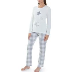 Vêtements Femme Pyjamas / Chemises de nuit Selmark Tenue d'intérieur pyjama pantalon et top Geometric gris Gris