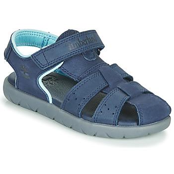 Chaussures Enfant Sandales et Nu-pieds Timberland NUBBLE LEATHER FISHERMAN Bleu