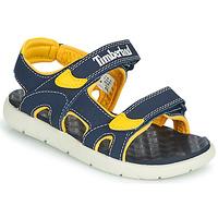 Chaussures Enfant Sandales et Nu-pieds Timberland PERKINS ROW 2-STRAP Bleu / Jaune