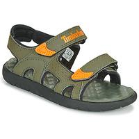 Chaussures Enfant Sandales et Nu-pieds Timberland PERKINS ROW 2-STRAP Vert / Orange