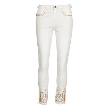 Vêtements Femme Jeans slim Desigual PAISLEY Blanc