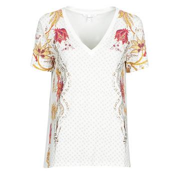 Vêtements Femme T-shirts manches courtes Desigual PRAGA Blanc