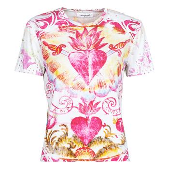 Vêtements Femme T-shirts manches courtes Desigual TATTOO Multicolore