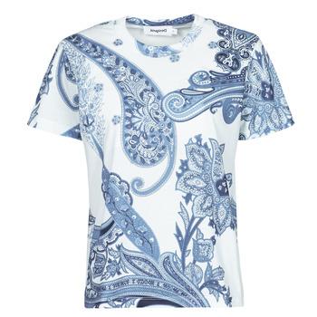 Vêtements Femme T-shirts manches courtes Desigual POPASLEY Bleu