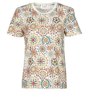 Vêtements Femme T-shirts manches courtes Desigual LYON Blanc