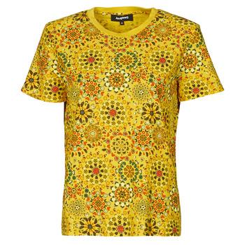 Vêtements Femme T-shirts manches courtes Desigual LYON Jaune