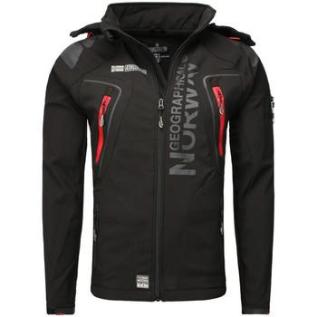 Vêtements Homme Coupes vent Geographical Norway Veste softshell  Veste Techno noir Noir