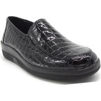 Chaussures Femme Mocassins Longo 1005290 NOIR VERNI