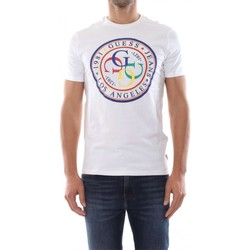 Vêtements Homme T-shirts manches courtes Guess T-shirt Homme G-Stamp Blanc M92I42 (rft) Blanc