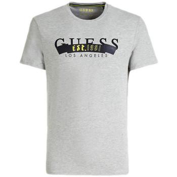 Vêtements Homme T-shirts manches courtes Guess T-shirt Homme BANNED M92I21 Gris (rft) Gris
