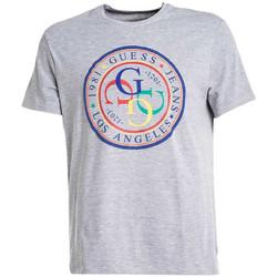 Vêtements Homme T-shirts manches courtes Guess T-shirt Homme G-Stamp M92I42 Gris Gris