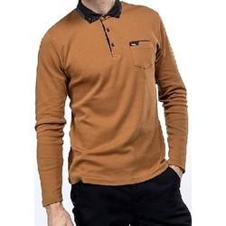 Vêtements Homme T-shirts & Polos Benson&cherry Polo manche longue Homme   PROMO Camel