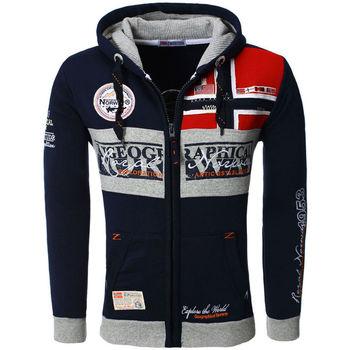 Vêtements Homme Sweats Geographical Norway Veste capuche  Veste Flyer bleu marine Bleu
