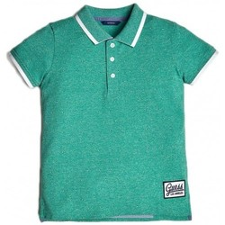 Vêtements Enfant T-shirts & Polos Guess Polo garçon applications en contraste L92P08 Vert (rft)