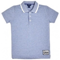 Vêtements Enfant T-shirts & Polos Guess Polo garçon applications en contraste L92P08 Bleu (rft)