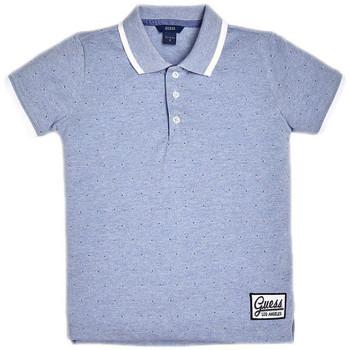 Vêtements Enfant T-shirts & Polos Guess Polo garçon applications en contraste L92P08 Bleu (rft)